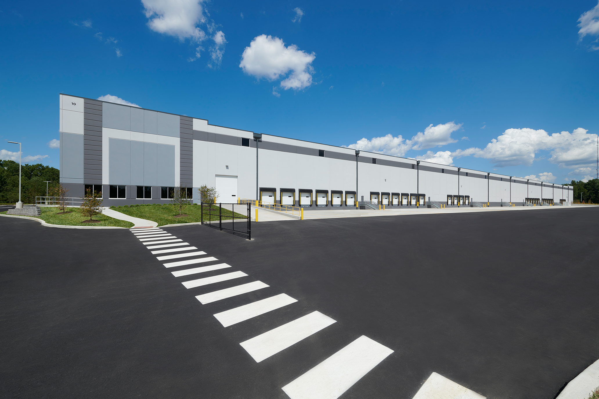 Exterior of Metrix warehouse in Lawrence Township, NJ