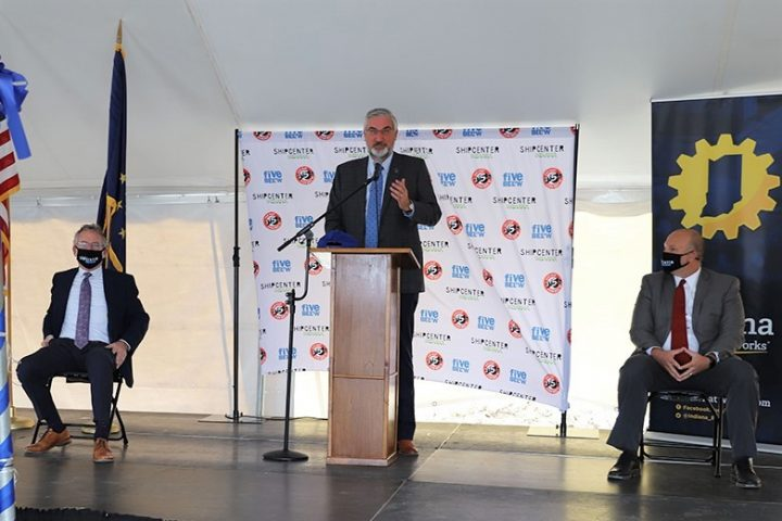 Indiana Governor Eric Holcomb at ARCO groundbreaking for Five Below in Indianapolis