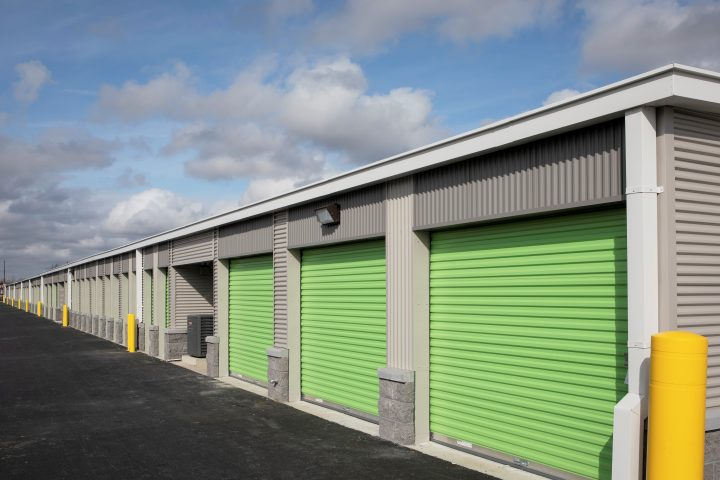 Outdoor self-storage units at ExtraSpace Storage in Winslow Township, NJ