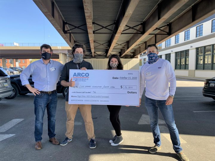 ARCO presenting check donation to City Springs Elementary/Middle School