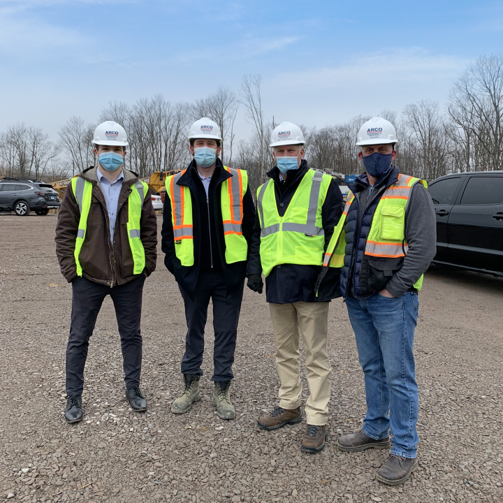 ARCO Design/Build Industrial project team at Exeter Property Group groundbreaking