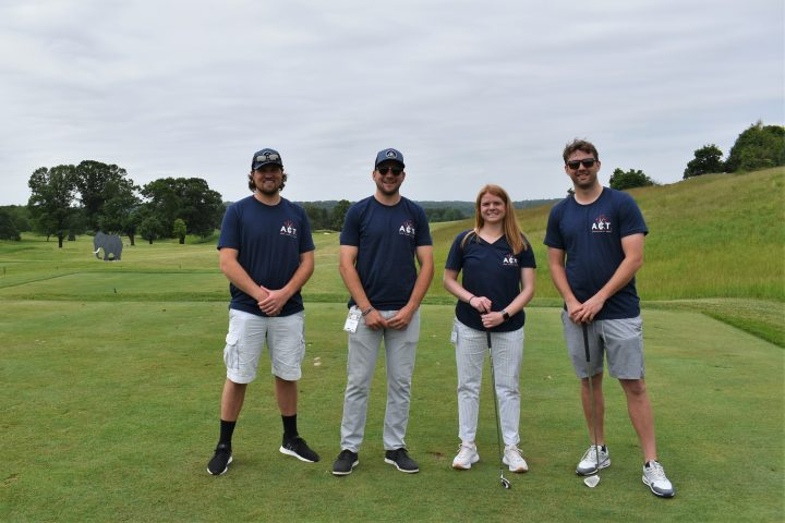 Sean Gallagher, Shane Kelley, Amy Roth & Luke Mulvaney at the ARCO Charity Trust golf outing